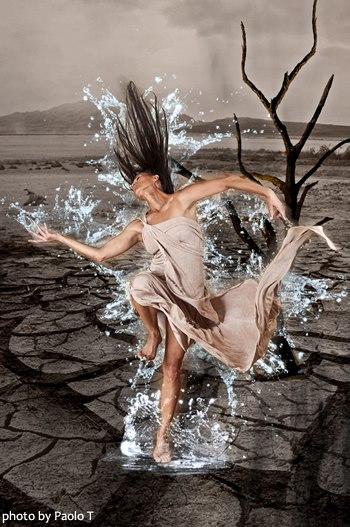 Global Water Dances Santa Fe, New Mexico, USA : Santa Fe Riverbed and arroyos