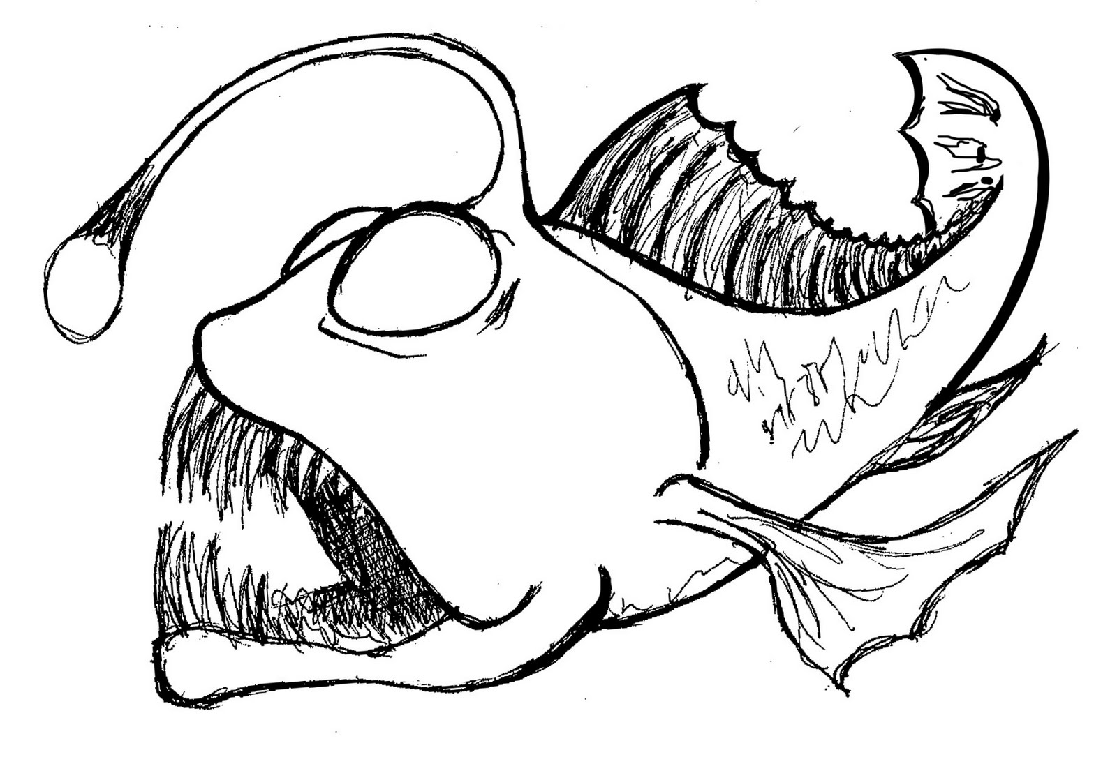 Angler Fish Coloring Page Coloring Pages