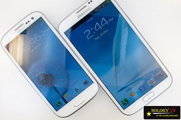 Samsung Galaxy s3 với Samsung Galaxy Note 2