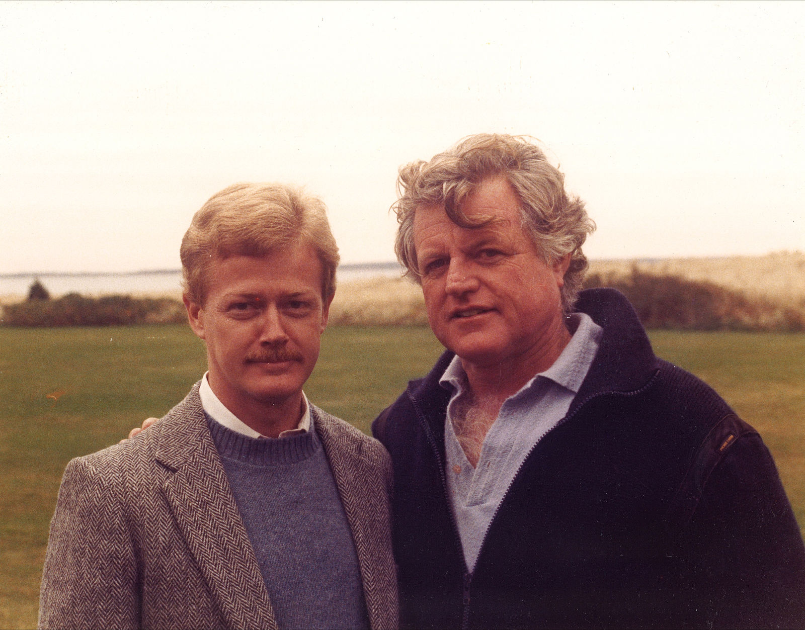 Dan Emmett and Ted Kennedy 1984
