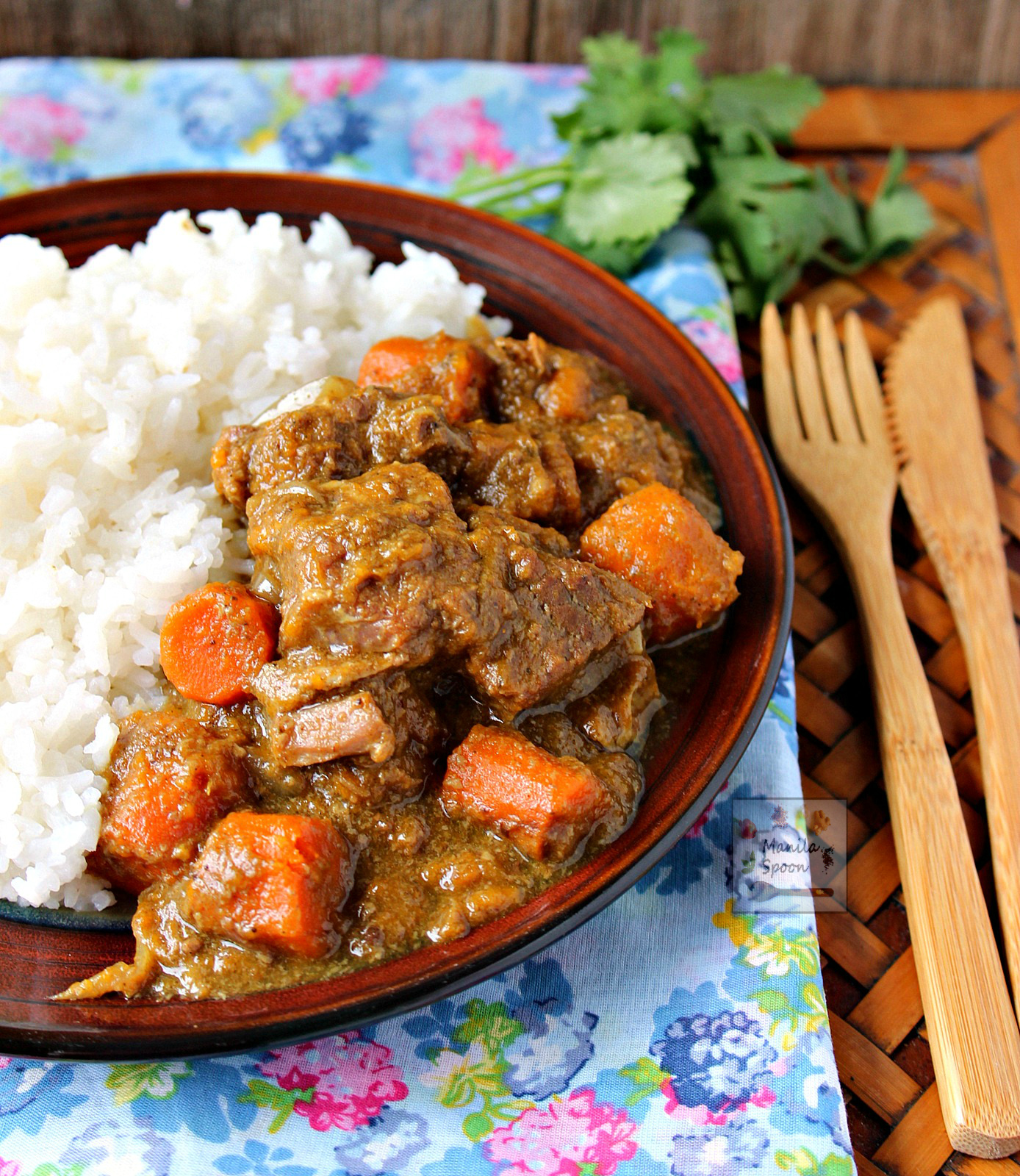 Slow Cooker Coconut Curry Beef Stew | Manila Spoon