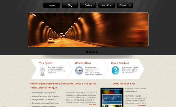 Spiral Abstract Grunge CSS Website Template