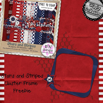 Stars and Stripes cluster frame freebie