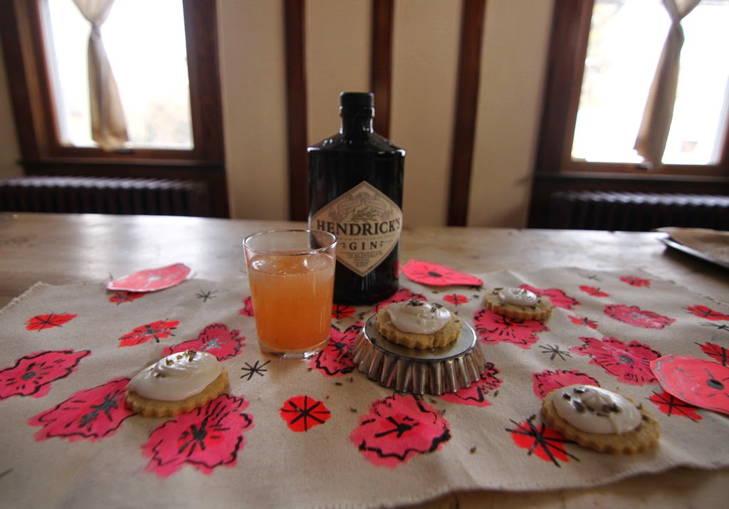 Lemon Lavender Meringue Pie Cookies with Hendrick's Gin