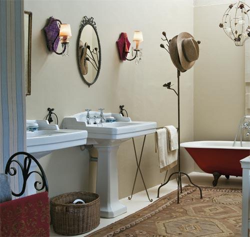 Casinha Bonitinha Decoração provençal Correios, virose, blogger, obra -> Pia De Banheiro Estilo Provencal