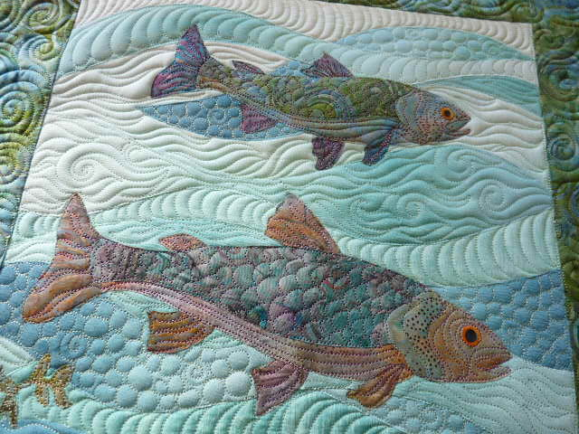 Sewing & Quilt Gallery: Fishies : fishing quilt - Adamdwight.com