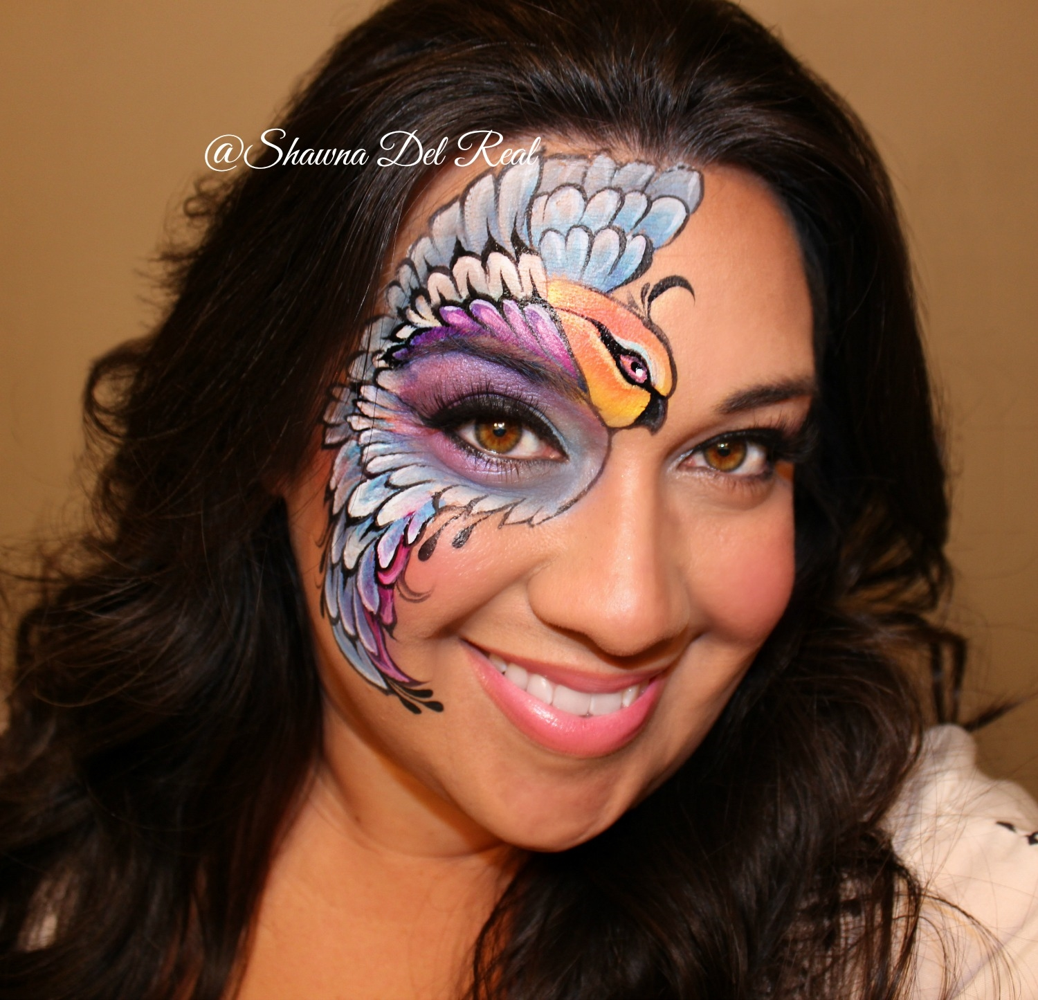 Shawna D. Make-up Birds Of A Feather Face Painting