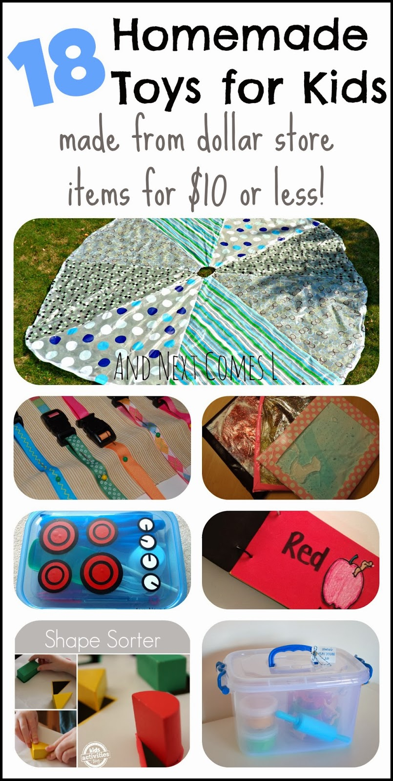 18 Homemade Toys for Kids Made from Dollar Store Items ...