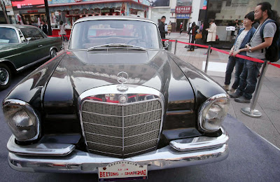 Classic car is on display in Wangfujing walking street of Beijing. The classic car tour in China will start on October 12 in Beijing and end after 12 days in Shanghai