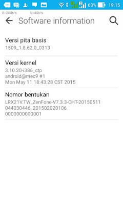 Software Information Asus Zenfone 4 Lollipop