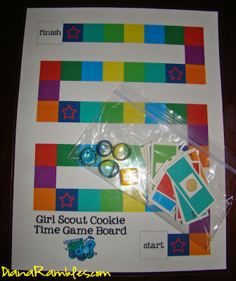 girl scout cookies game board