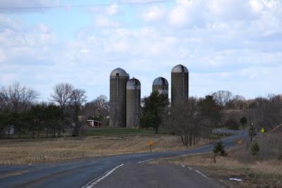 farmstead and silos