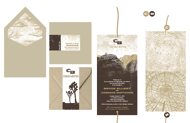 Deanna moore design may 2012 for Joshua tree wedding invitations