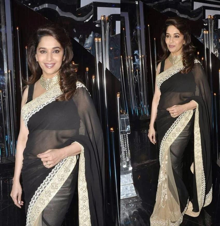 Madhuri Dixit sexy navel show hottest 28 inch waist size