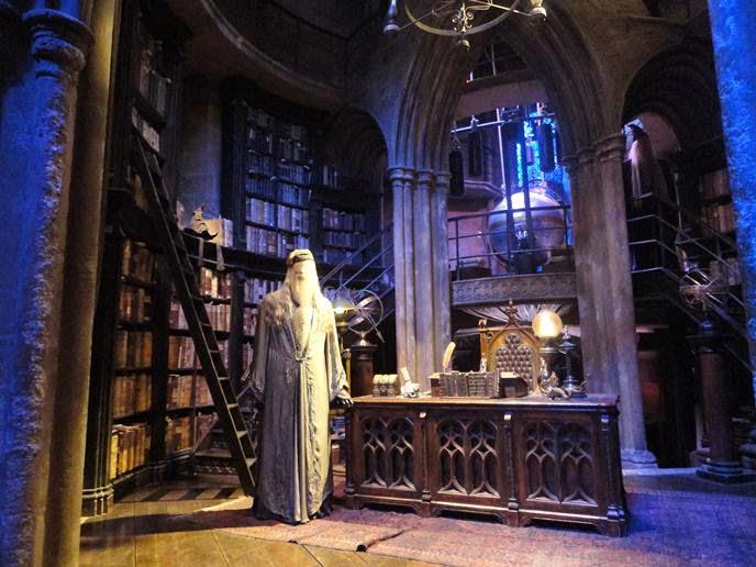 Escritório de Dumbledore - Visitando os Estúdios de Harry Potter em Londres