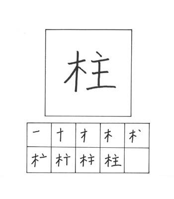 kanji tiang