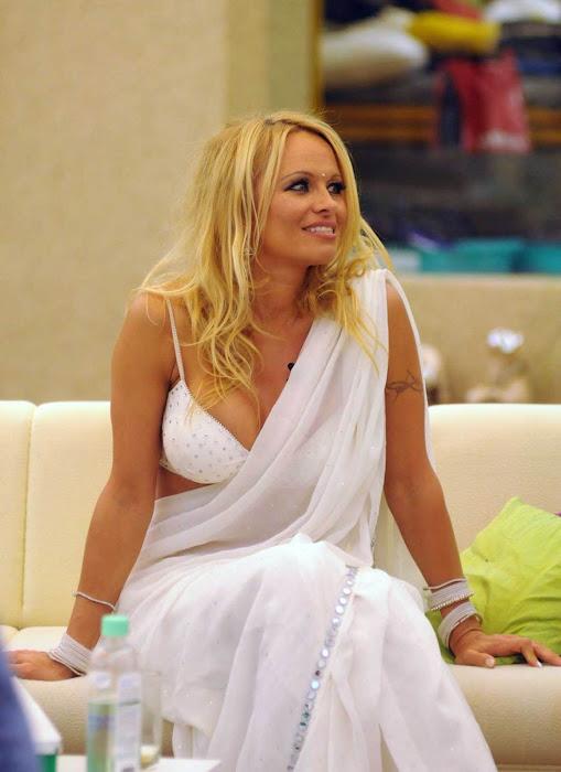 pamela anderson in a bikini blouse saree actress pics