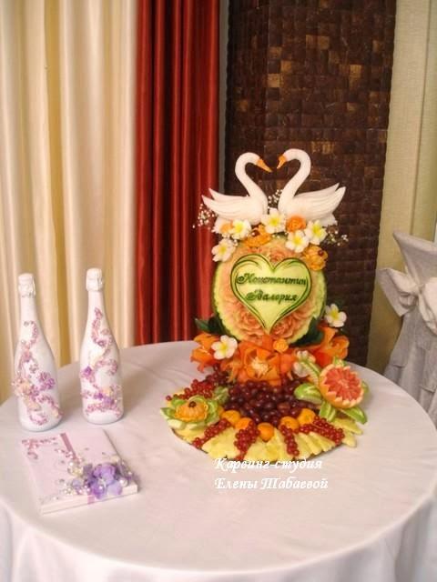 карвинг-композиция из фруктов на свадьбу южно-сахалинск