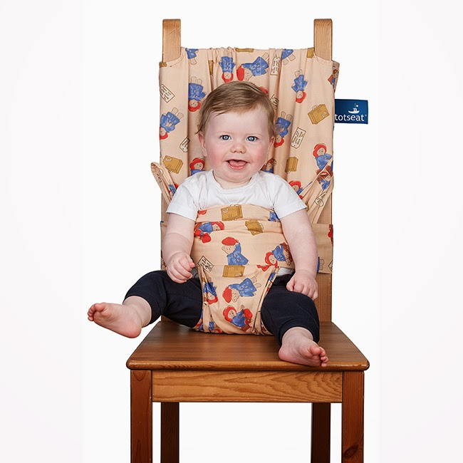 Paddington Bear Tot Seat Fabric Portable Baby High Chair in Ecru