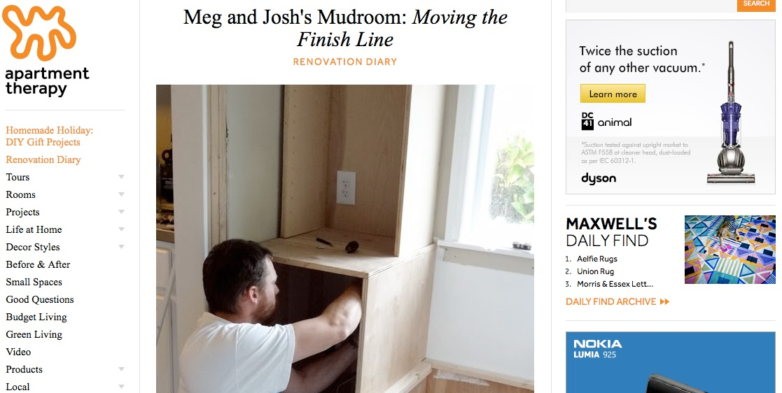 http://www.apartmenttherapy.com/meg-and-joshs-mudroom-renovation-diary-196898