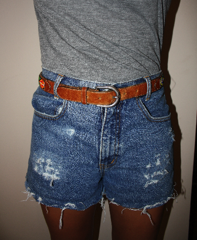 diy} ripped denim shorts | i&39m a little.