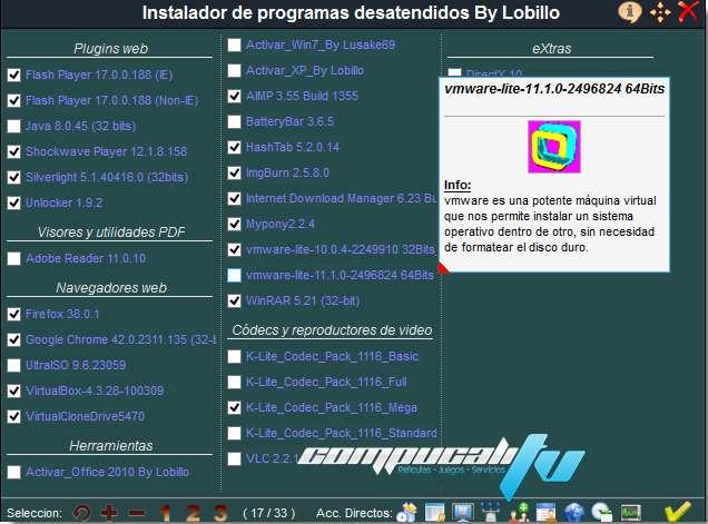 Pack de programas desatendidos 2015 Español