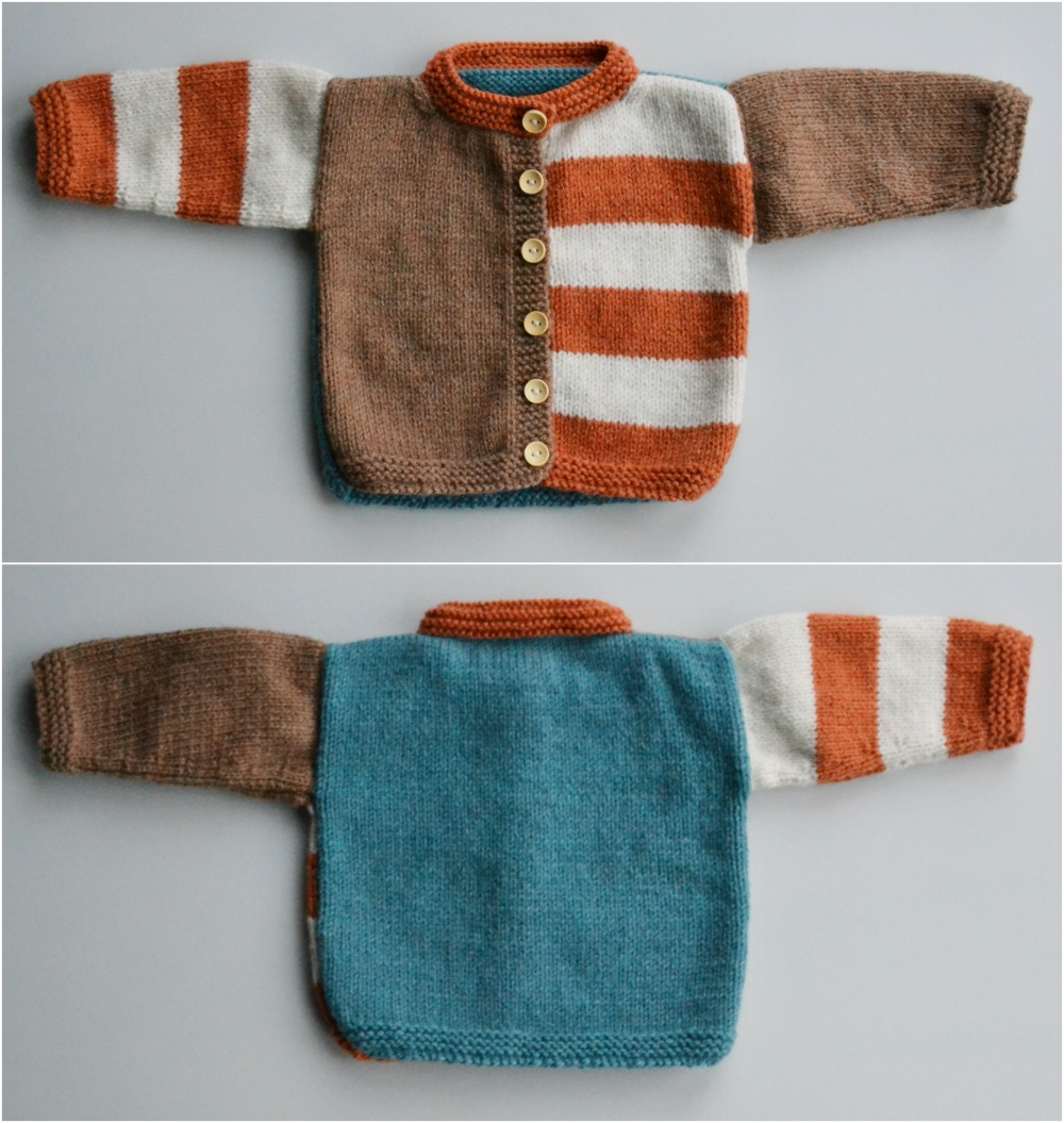 gingersnap baby cardigan knitted colour block christmas gift
