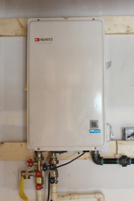 Noritz tankless water heater, a free upgrade from Ryan Homes!