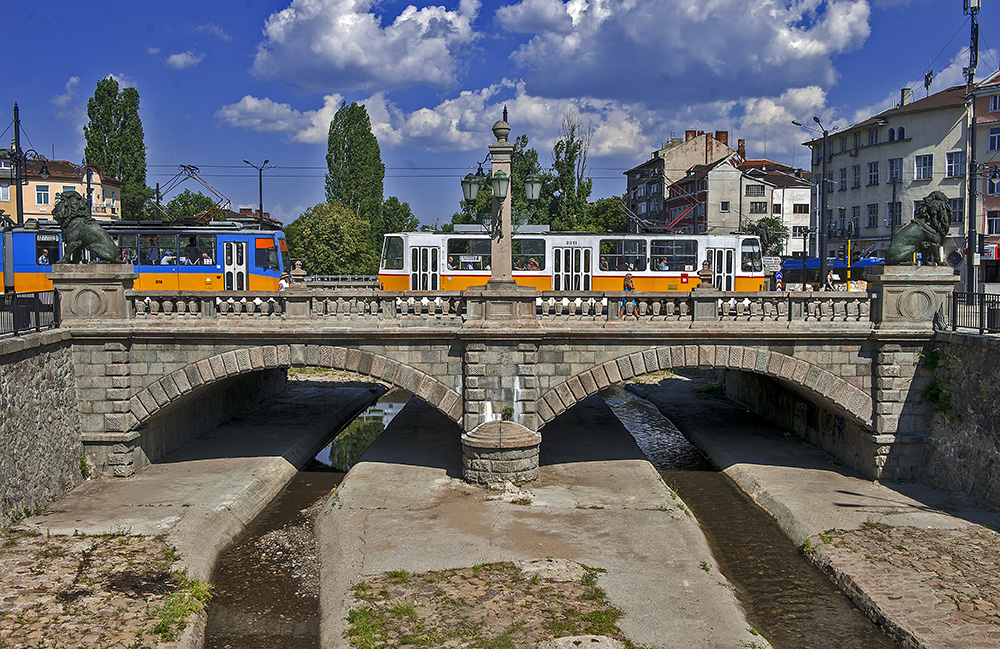 The Lions Bridge in Sofia, Bulgaria
