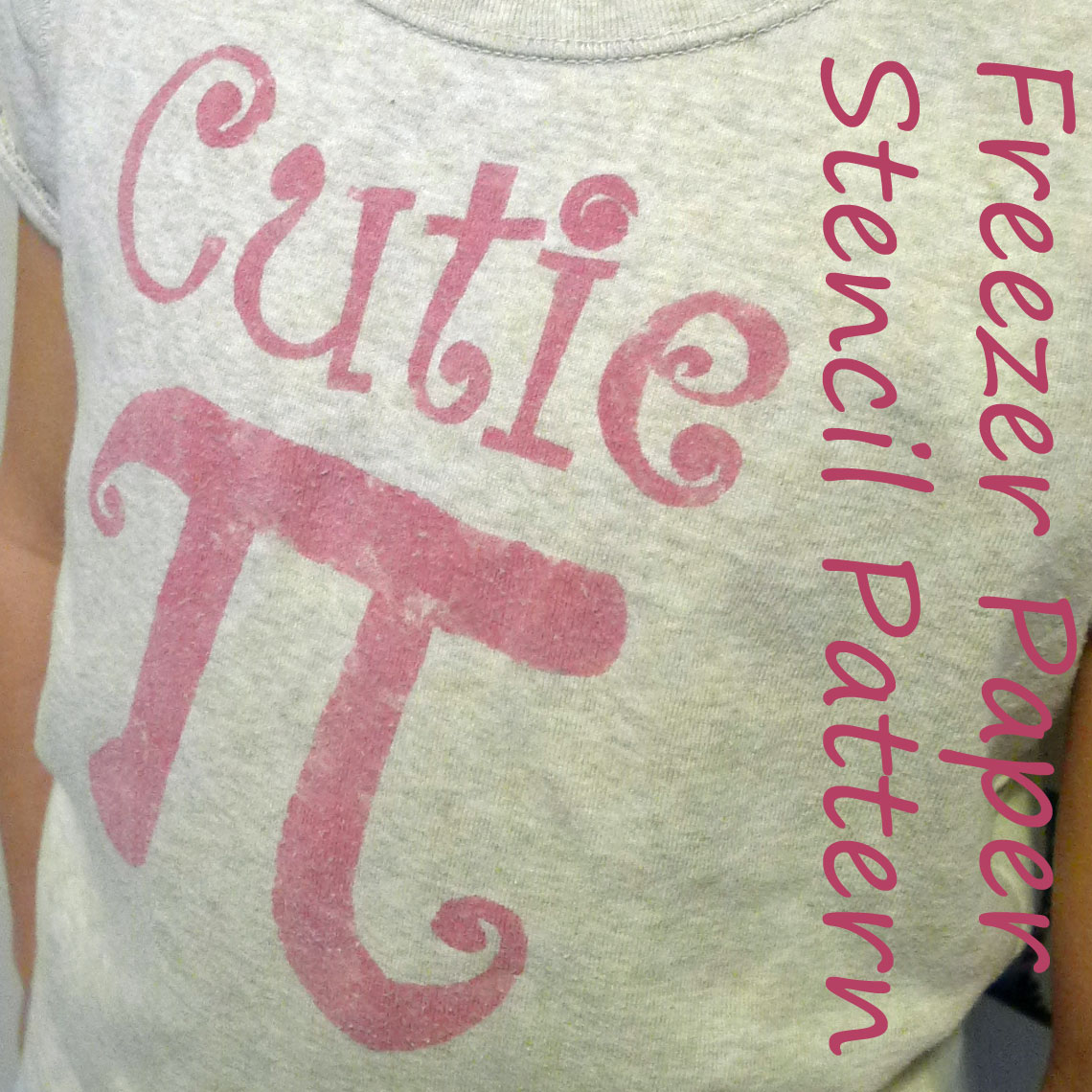 Pieces by Polly: Cutie Pi Shirt - Freezer Paper Stencil Pattern