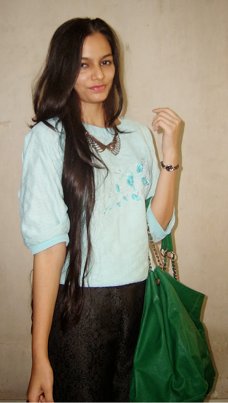 long hair, how to get healthy long hair, indian fashion blogger, mumbai fashion blogger, statement necklace