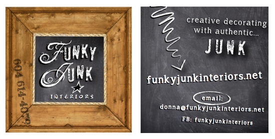 Funky Junk Interiors new business card