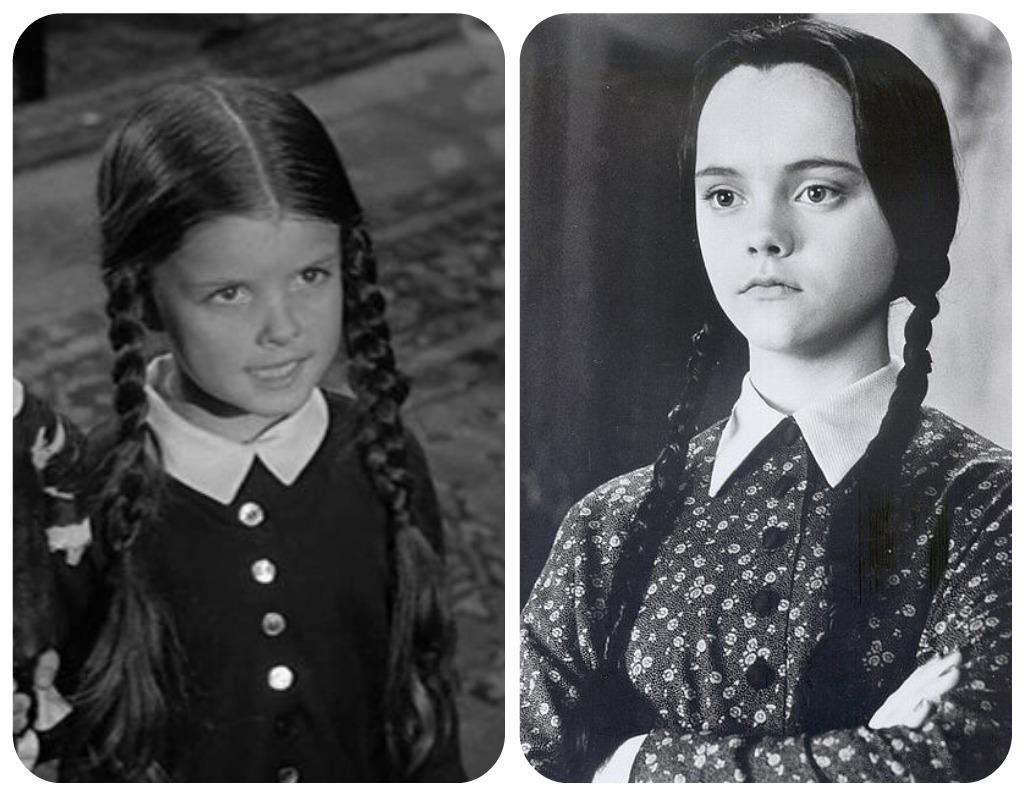 The Original Wednesday Addams 1960s Tv Show Christina Ricci As In 1990s Movie