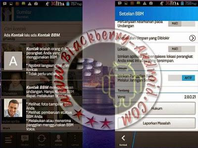 Ubdate Aplikasi BBM Original Dan Clone Versi 2.8.0.21