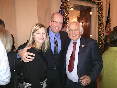 Rabbi Jason & Elissa Miller with Michigan Rep. Sandy Levin at The White House