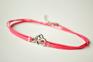 om anklet, pink, holiday gift, gift for her, presents