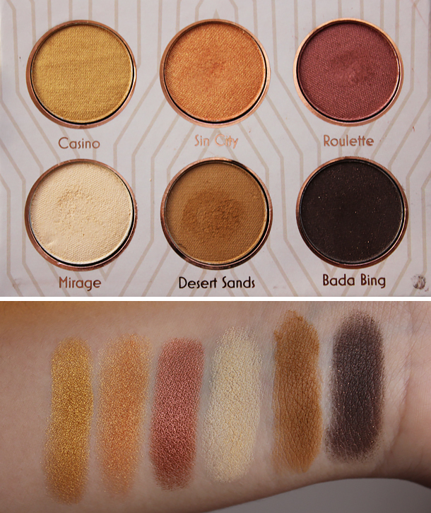 makeup geek vegas lights palette eyeshadow swatches roulette sin city mirage