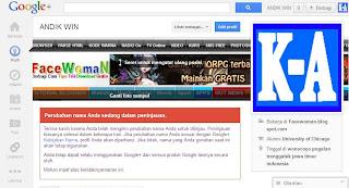 Jangan Terlalu Sering Mengganti Nama Di Google+