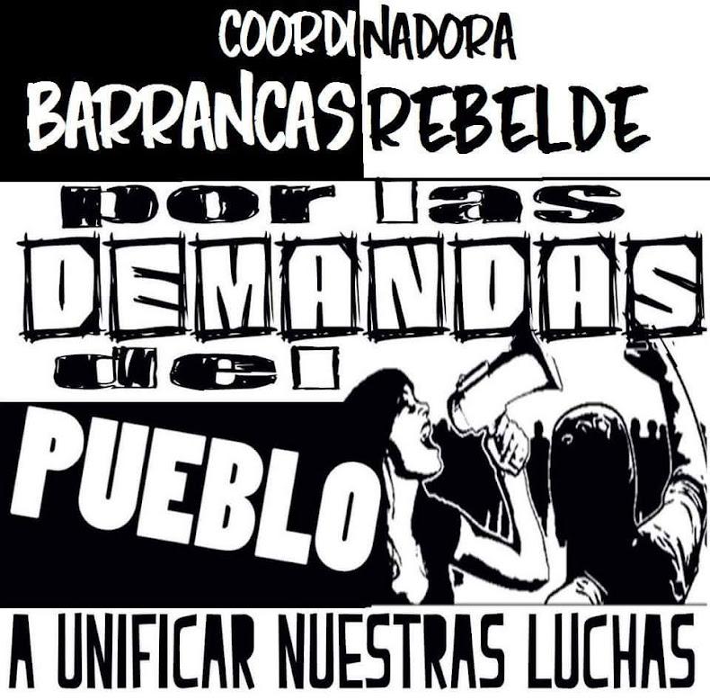 PUDAHUEL:  COORDINADORA BARRANCAS REBELDE, POR LAS DEMANDAS DEL PUEBLO