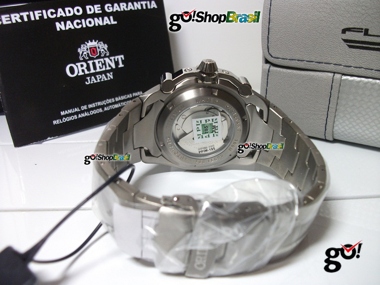 8d4288fc88a Relógio Orient Flytech Automático 469TI001 Raptor Titanio. Orient Flytech  automático com fundo trasnparente