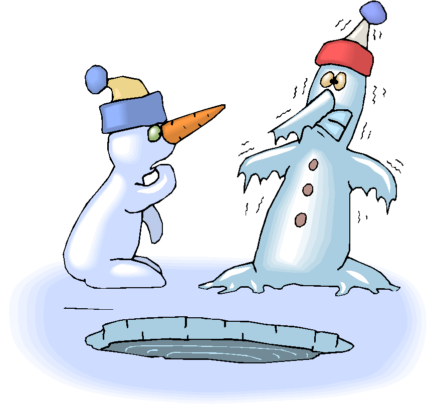 Two Snowman Freeze Free Clipart
