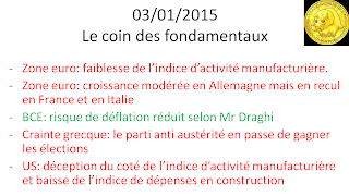 Actualités bourse 03/01/2014