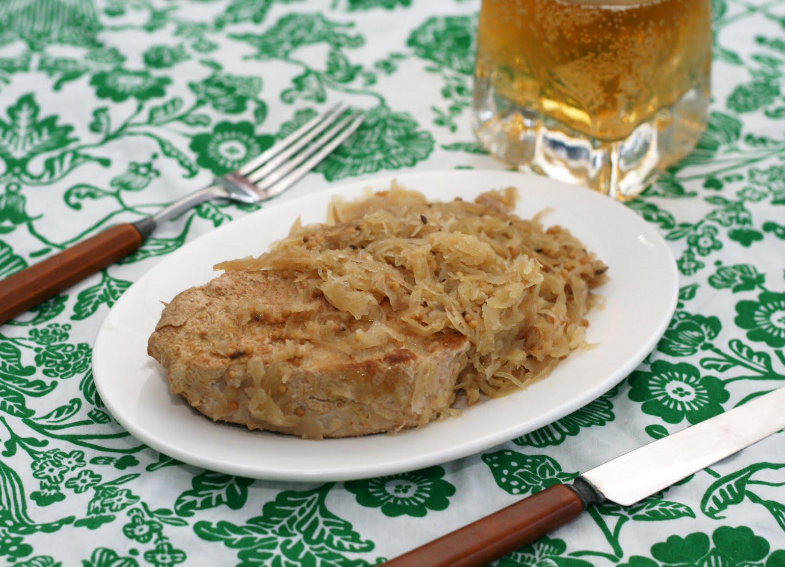 ... // recipes by Rachel Rappaport: Slow Cooker Pork Chops & Sauerkraut