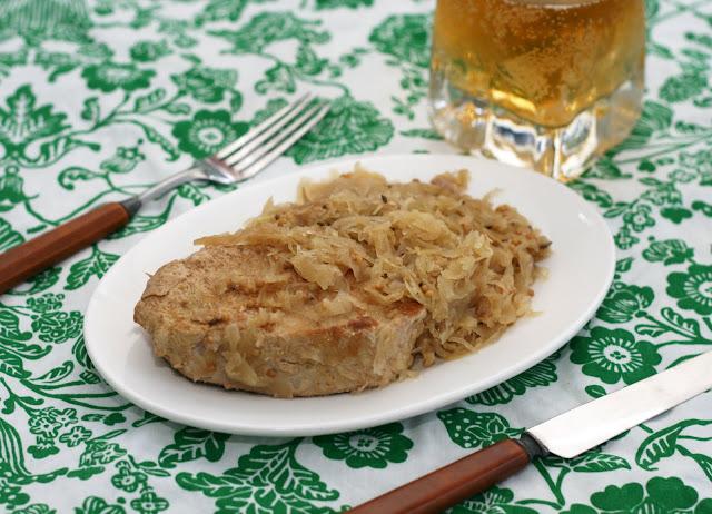 ... & Lime // Rachel Rappaport: Slow Cooker Pork Chops & Sauerkraut