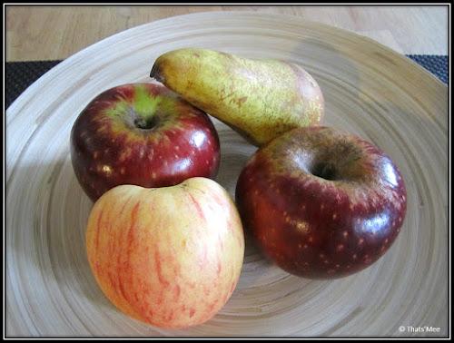 pomme winter reinette et poire conference
