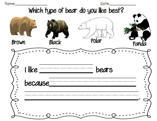 Polar Bear Math Worksheet on Bear Worksheets For First Grade