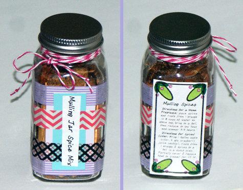 DIY Handmade Christmas Gift Idea - Mulling Spices in a Jar