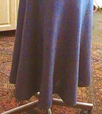 Вязание юбки на машине частичным вязанием