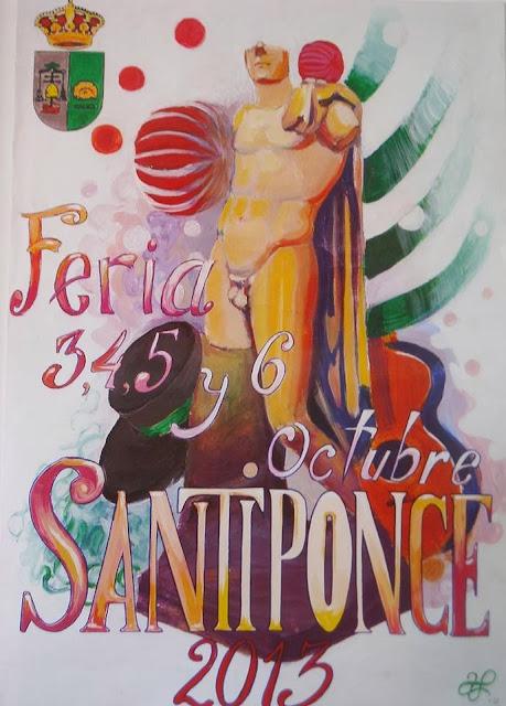 Cartel de la feria de Santiponce 2013