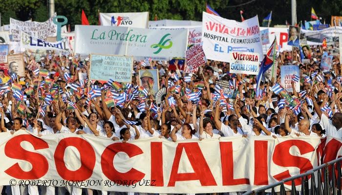 Desfile por el Primero de Mayo, Día del Proletariado Mundial, en la Plaza de la Revolución José Martí, en La Habana, Cuba, el 1ro. de mayo de 2014.